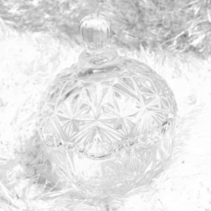 Round Etched Candy Dish